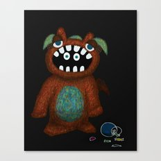 Scared Monster Canvas Print
