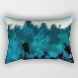 Winter Treeline at Dusk by Erik Sciarra Rectangular Pillow