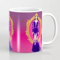 evil queen Mugs featuring  Queen Grimhilde ( The Evil Queen ) by Sara Eshak
