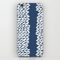 Missing Knit Navy iPhone & iPod Skin