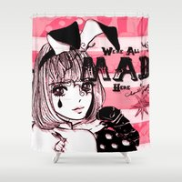 giants Shower Curtains featuring Tiny Giants by Chandelina