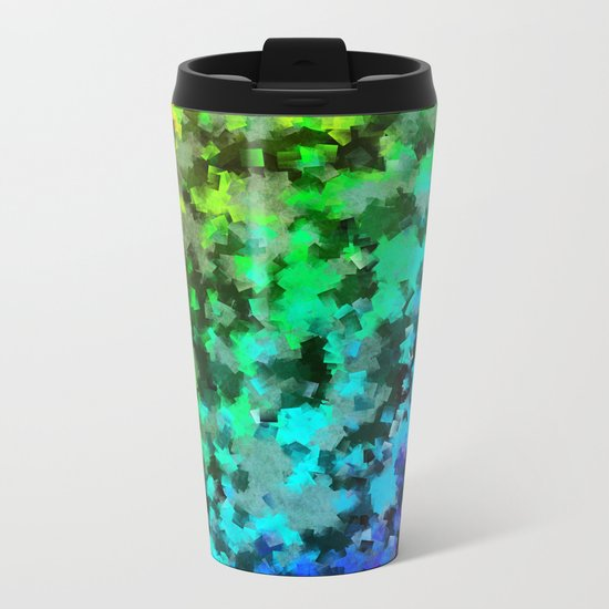 Starrider -- Abstract cubist color expansion Metal Travel Mug
