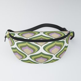 1970s retro avocado wallpaper Fanny Pack