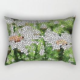 Garden Mosaic Design Rectangular Pillow