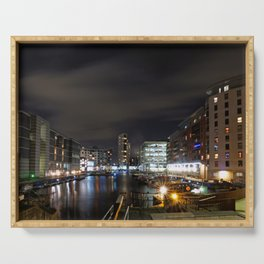 Clarence Dock - Leeds at Night Serving Tray