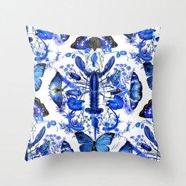 Ultramarine (pattern) Throw Pillow