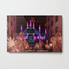 Christmas greetings from New York Metal Print