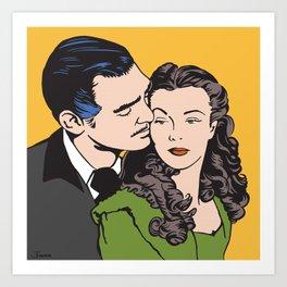 Rhett Butler and Scarlett O'Hara Art Print