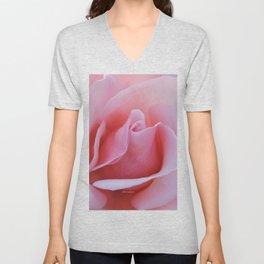 Rose Petal Pink Unisex V-Neck