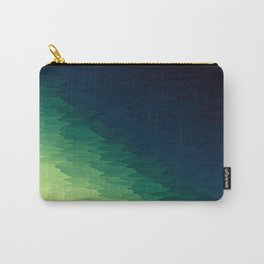 Blue Green Ombre Carry-All Pouch