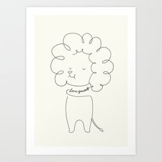 Love Yourself Lion Art Print