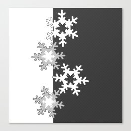 Black and white Christmas pattern Canvas Print