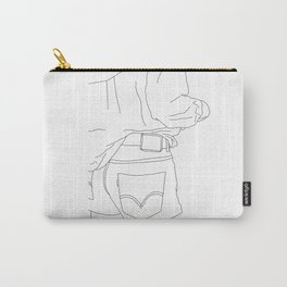Fashion illustration line drawing - Capta Carry-All Pouch