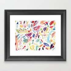 Abstract Watercolor Marks Framed Art Print