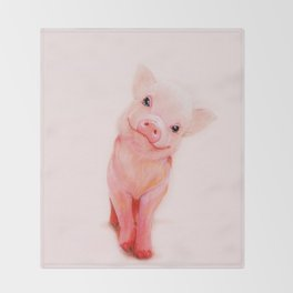 Mr. Piglet Throw Blanket