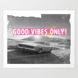 California route 66 Good vibes only pinky Art Print