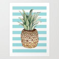 Pineapple vase Art Print