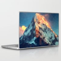 low poly Laptop & iPad Skins featuring Mountain low poly by Li9z