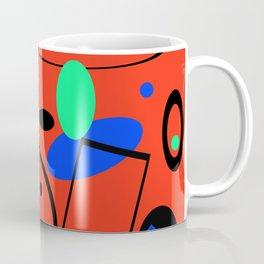 Retro abstract red print Coffee Mug