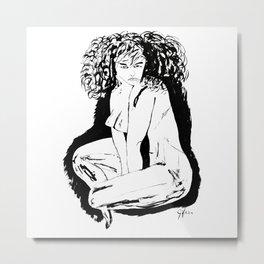 Woman Fatale Metal Print