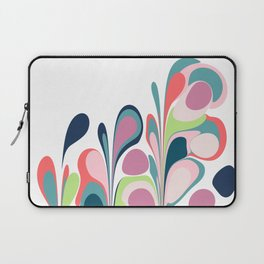 Colorful Abstract Floral Design Laptop Sleeve