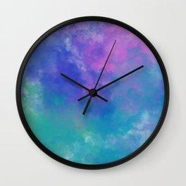 SMOKE in BLUE TONE Wall Clock