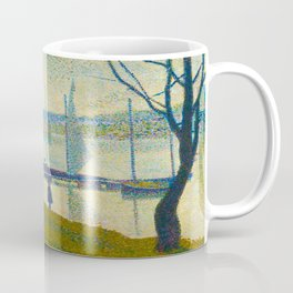 Bridge at Courbevoie Georges Seurat - 1886-1887 Impressionism Modern Pointillism Oil painting Coffee Mug