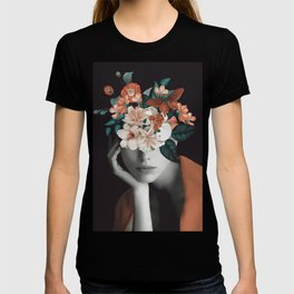WOMAN WITH FLOWERS 7 T-shirt