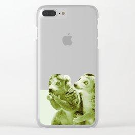 Monochrome - the lemur honeytrap Clear iPhone Case