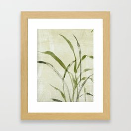 beach weeds Framed Art Print