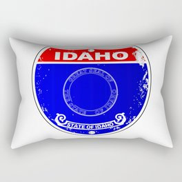 Idaho Flag Icons As A  Interstate Sign Rectangular Pillow