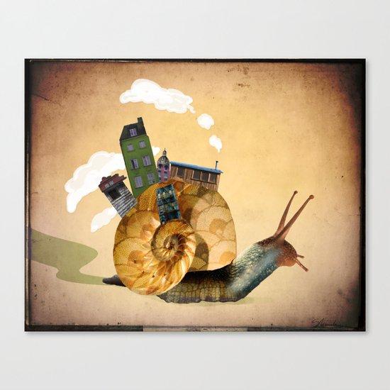 A Tiny Community Canvas Print