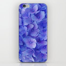 Hydrangea blue iPhone Skin