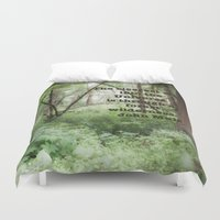 john green Duvet Covers featuring John Muir Wilderness Quote by Elliott's Location Photography