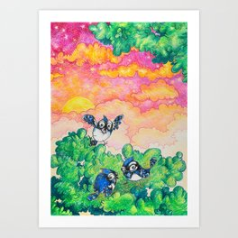 Summer: Bluejay Brothers Art Print