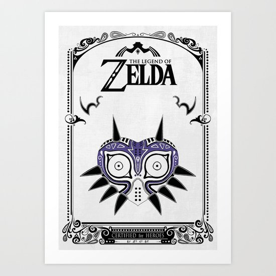 Zelda legend - Majora's mask Art Print