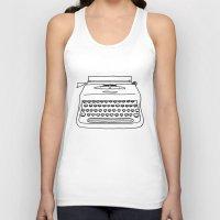 typewriter Tank Tops featuring 'Typewriter' by Ben Rowe