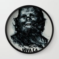 che Wall Clocks featuring CHE-wbacca by Carlos Rocafort