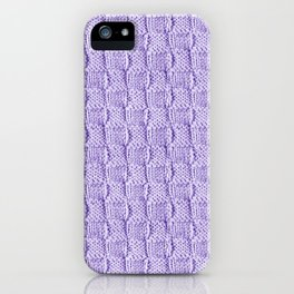 Soft Lilac Knit Textured Pattern iPhone Case