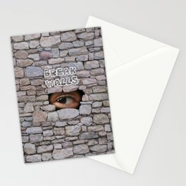 Break Walls Stationery Cards