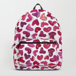 LOVE Hearts Watercolour Backpack