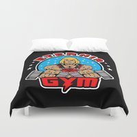 gym Duvet Covers featuring Eternia Gym by Buby87