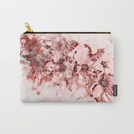 4 23 Abstract Cherry Blossoms in Red Carry-All Pouch