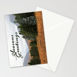 Christmas card of Highland trees with intruder. Stationery Cards
