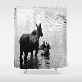 A Protective Mom Shower Curtain