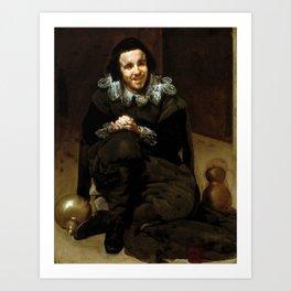 "Diego Velázquez ""The Buffoon Juan de Calabazas (Calabacillas)"" Art Print"