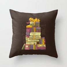 Sleeping On My Treasure Throw Pillow