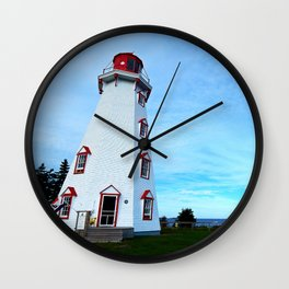 Panmure Island Lighthouse and Boat Wall Clock