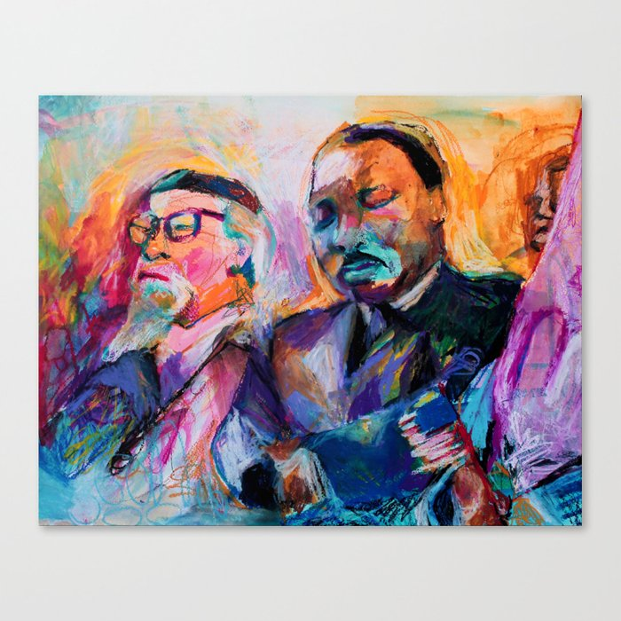 Heschel and King, Bright Canvas Print