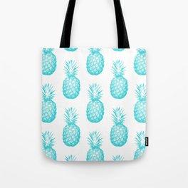 Teal Pineapple Tote Bag